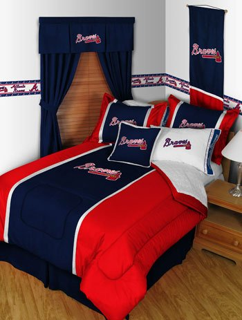 MLB Atlanta Braves Sidelines Twin Comforter and Pillowcase