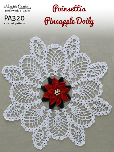 Crochet Patterns On Amazon : Crochet Pattern Poinsettia Pineapple Doily Pa320 R Pictures