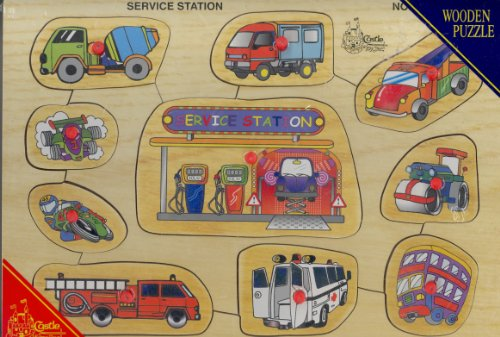 Picture of Castle Toy Service Station (B000MQGUYW) (Pegged Puzzles)