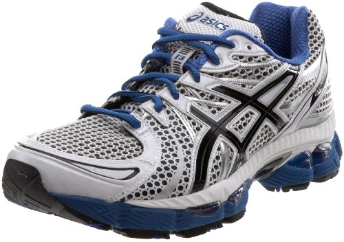 ASICS Men's GEL-Nimbus 13 Running Shoe,White/Black/Royal,10.5 M US