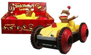 Sock Monkey Tumbling Car