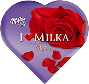 Milka, I love Milka Geschenkherz, Romantik, Pralinen, 187g, 2er Pack (2 x 187 g)