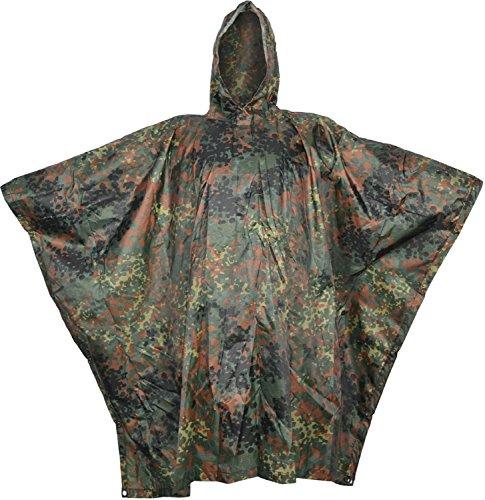 Regenponcho aus Rip Stop flecktarn, Gr. 144 x 205 cm