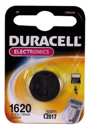 DURACELL Piles CR1620 3 V. Technologie batterie : Lithium, facteur de forme de la batterie : bouton/pièce t
