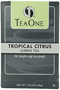 Java One Tropical Citrus Green Tea OOH Pods, 14-Count Pods (Pack of 6)