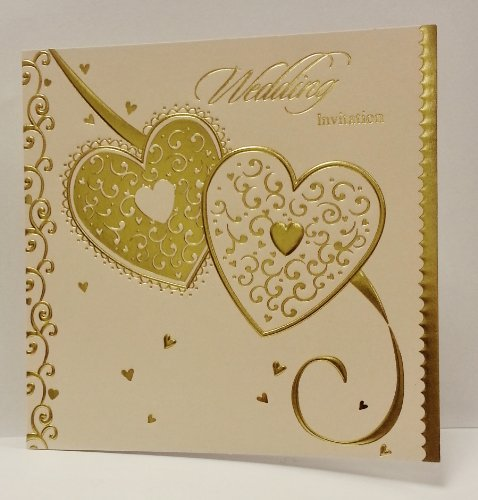 Pack of 6 Wedding Invitation Cards and Envelopes