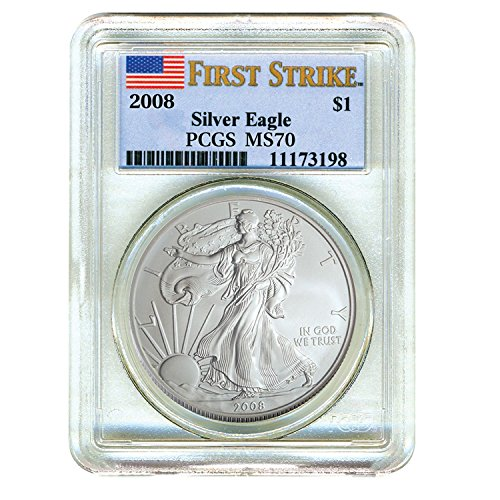2008 Silver Eagle First Strike $1 MS70 PCGS