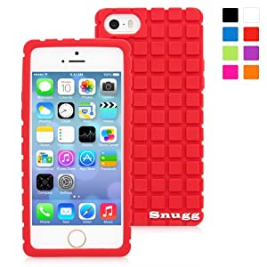 Snugg iPhone 5/5s Case - Protective, Non-Slip Silicone Case With Lifetime Guarantee (Red) For Apple iPhone 5/5s