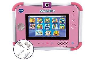 Vtech - 158865 - Jeu Électronique - Tablette tactile Storio 3S Wifi rose + Power Pack