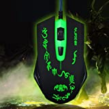 Atdoshop(TM) sturdy light-emitting Green Bodhidharma athletic gaming wired mouse