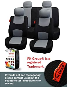 FH-FB050114 Univerisal Car Seat Cover Full Set Fb050 Gray/black from FH