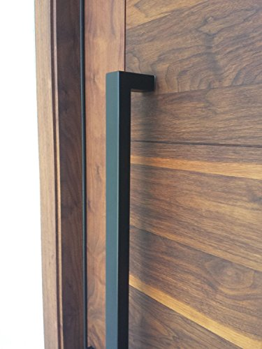 166 Matt Black Modern Stainless Steel Sus304 Entrance Entry Commercial Office Store Front Wood Timber Glass Garage Commercial Aluminum Door Pull Push Handles Double-sided (64 Inches /1600x25x38mm) (Entrance Door Handle compare prices)