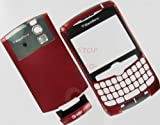 –NEW AT&T RIM Blackberry Curve 8300 8310 8320 Original OEM Full Housing Case Cover with Lens Battery Back Door Faceplate Bottom U Piece Red Color GSM Plus Tool Kit T5 Screw Driver & Opener