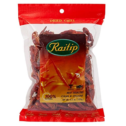 Thai Whole Dried Chile - 3.5 oz (Chili Pepper Strings compare prices)