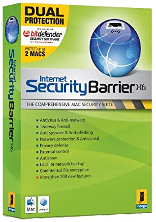 Intego Internet Security Barrier X6, Dual Protection - 2 machines (Mac)
