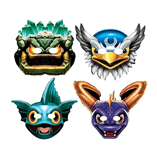 [8 Skylanders Video Game Childrens Birthday Paper Party Treat Favor Masks, New] (Gill Grunt Costumes)