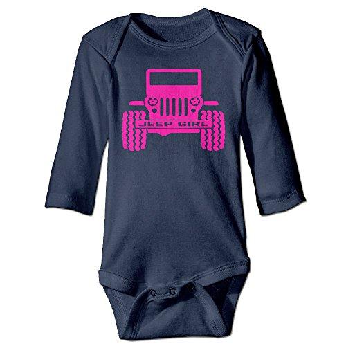 Long Sleeve Jeep Girl Baby Bodysuit