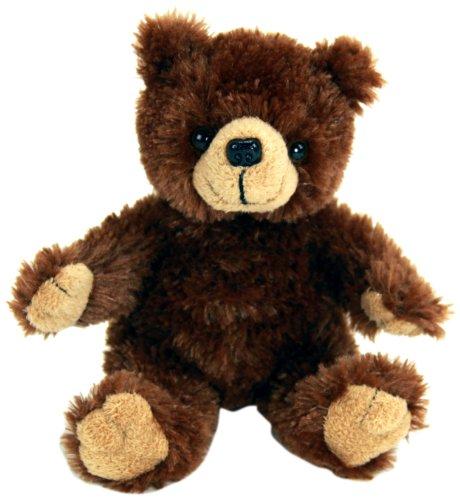 """Purr-Fection Tender Friend Brown Bear Sitting 6"""" Plush"""