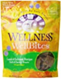 Wellness WellBites Soft Natural Dog Treats Made in USA Only, Lamb & Salmon Biscuits, 8-Ounce Bag