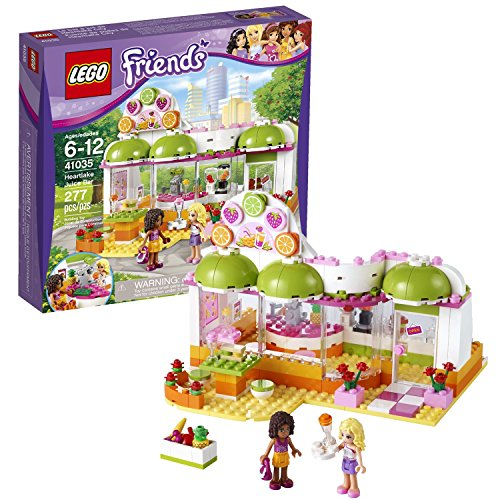 Lego Year 2014 Friends Series Building Set #41035 - HEARTLAKE JUICE BAR with Glass Windows, Counter with Blenders, Juice Squeezer, Sink and Cash Register Plus 2 Mini-Doll Figures: Andrea and Naya (Total Pieces: 277) (Juice Bar Lego Friends compare prices)