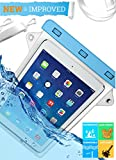 iPad Waterproof Case for Apple iPad Air 2, 3 - Protective Pouch- Compatible With Samsung Galaxy Tab- Lifetime Warranty