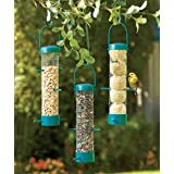 Set Of 3 Wire Bird Feeders Birdfeeders