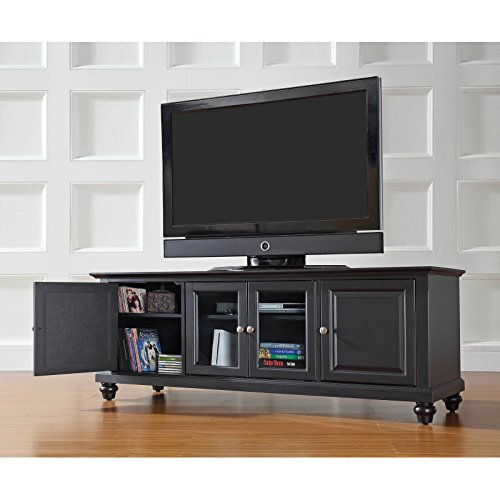 Crosley Cambridge 60 in. Low Profile TV Stand - Black mineral profile in vegetables