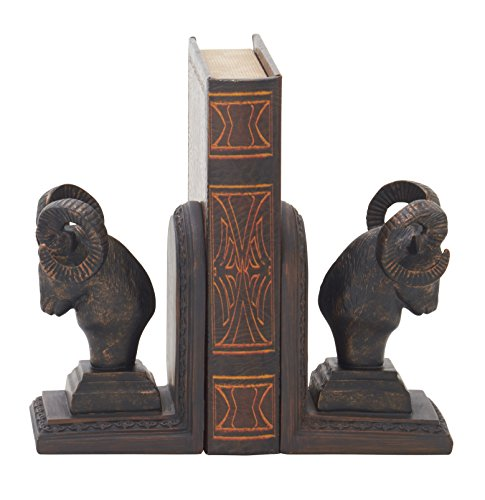 Deco 79 54895 Exceptional Ram Head Bookend Pair, 4
