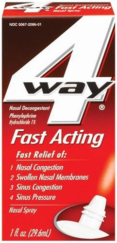 Cheap 4 Way Nasal Decongestant Nasal Spray, Fast Acting, 1-Ounce (29.6 ml)