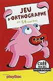 Cartes éducatives Monstres - Jeu d'orthographe