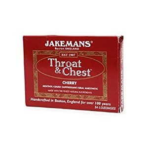 Jakemans Throat and Chest Lozenges - Cherry - 24 Pack , Jakemans , Cough/Cold, Health Supplements