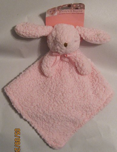 Blankets and Beyond, Adorable Nunu Pink Plush Bunny Lovey Blanket - 1