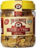 Smokehouse 100-Percent Natural Chicken Chips Dog Treats, 1-Pound