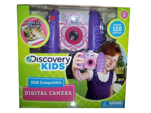 Discovery Kids Digital Photo/ Video Camera, Color Purple, Plastic front-538530