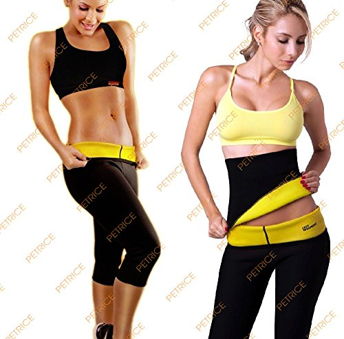PETRICE New 3 PC ( Pants + Vest + Waist) Super Stretch Set Hot Shapers Breeches for slimming Pants Sets Waist Traning Corsets Shaper Body