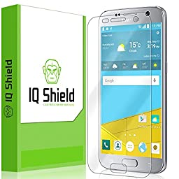 Galaxy S7 Screen Protector, IQ Shield® LiQuidSkin Full Coverage Screen Protector for Galaxy S7 HD Clear Anti-Bubble Film - with Lifetime Warranty