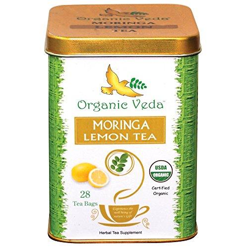 "Organic Moringa Lemon Tea All Natural Essential Nutrients , 100% Certified Organic"" By ""Usda"" 24 Tea Bags 1.69 Oz"