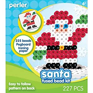 perler fused bead kit santa arts