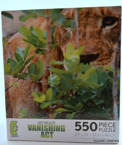 Art Wolfe's Vanishing Act 550-pc Jigsaw Puzzle: Lion