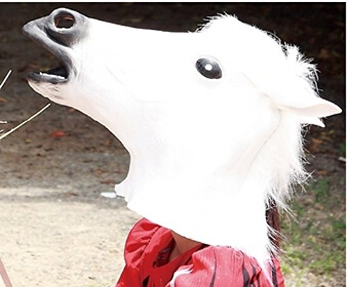 Helen Ou@halloween white Horse Head Mask one of the 12 Animals of Zodiac
