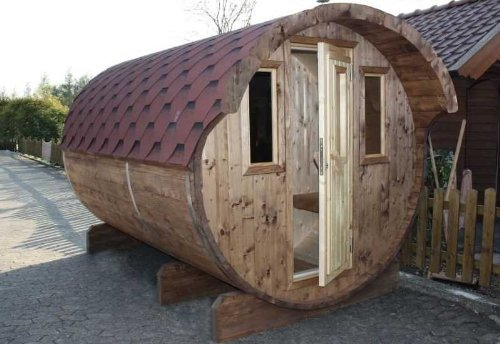 Wolff Finnhaus Saunafass 400 2-Raum