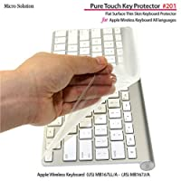 マイクロソリューション Micro Solution Inc. フルフラットキーボードカバー・Pure Touch Key Protector #201 for Apple Wireless Keyboard JIS-US...