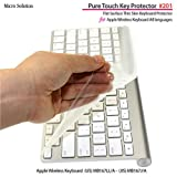 マイクロソリューション Micro Solution Inc. フルフラットキーボードカバー・Pure Touch Key Protector #201 for Apple Wireless Keyboard JIS-US / PTKP201
