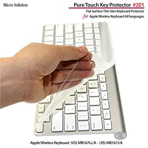 フルフラットキーボードカバー・Pure Touch Key Protector #201 for Apple Wireless Keyboard JIS-US / PTKP201