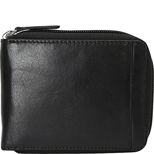 mancini-leather-goods-mens-rfid-zippered-wallet-with-removable-passcase-black