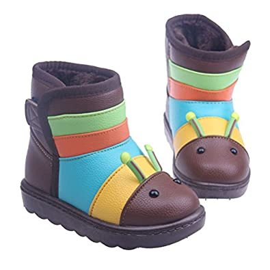 Amazon.com: Swaroser Kids Straped colorful Snow Boots