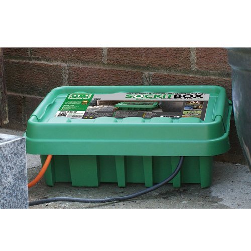 Medium Green Weatherproof Indoor Outdoor Electrical Cord Connection Enclosure Box Sockit Box