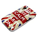 DeinPhone Keep Calm and Carry On Hardcase Cover Bumper for Samsung Galaxy Ace 1 S5830i