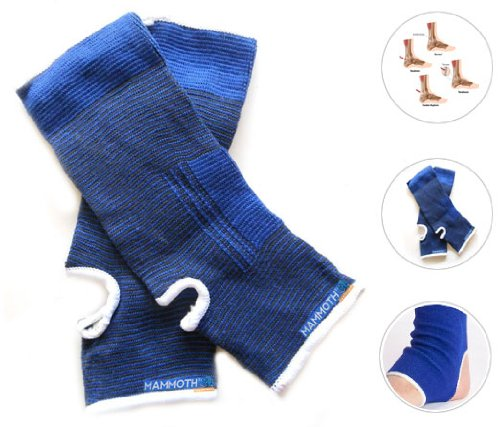 Mammoth XT Elastic Ankle Brace Support - Pair - For Strains / Pulls / Minor Injuries
