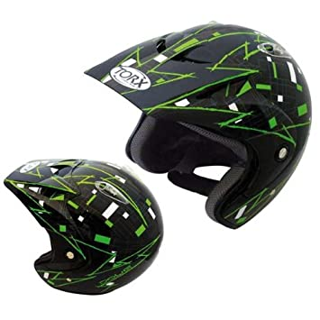 Casque MOTO trial quad TORX DOUG Black/Green Taille L